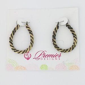 Premier Designs Rope Hoop Earrings